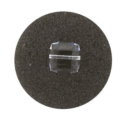 Swarovski Würfel, quer gestochen, 10mm, crystal