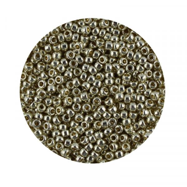 Toho-Beads, 9gr. Dose,silberfarben