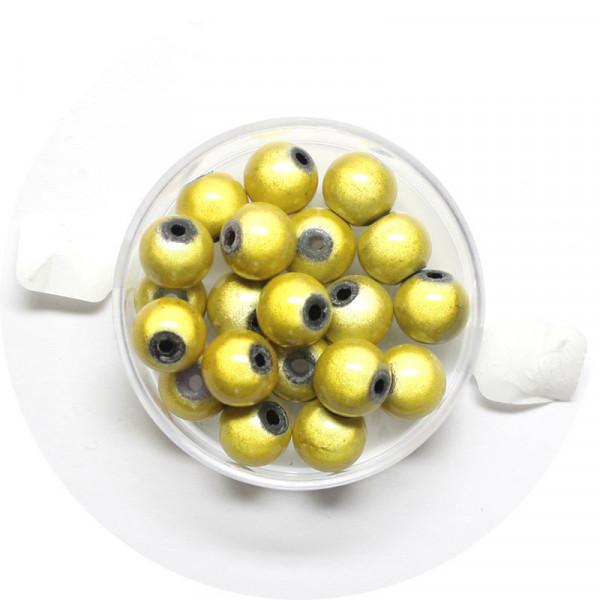 Miracle-Beads Glasperlen, 20 Stck., 8mm, gelb