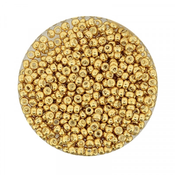 Miyuki Rocailles 2,2 mm - metallic gold