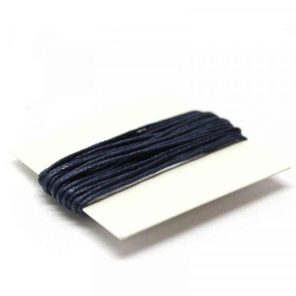 Baumwollkordel, 3 m, 1 mm, königsblau