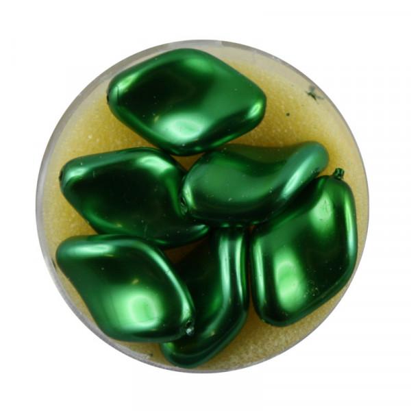 Pearl Renaissance, 19x13mm, 6 Stück, dkl. grün