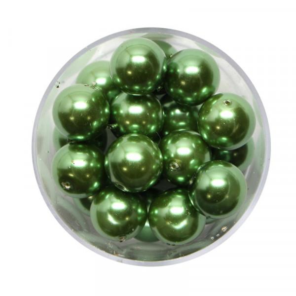 Pearl Renaissance, 10mm, 20 Stück, dunkelgrün