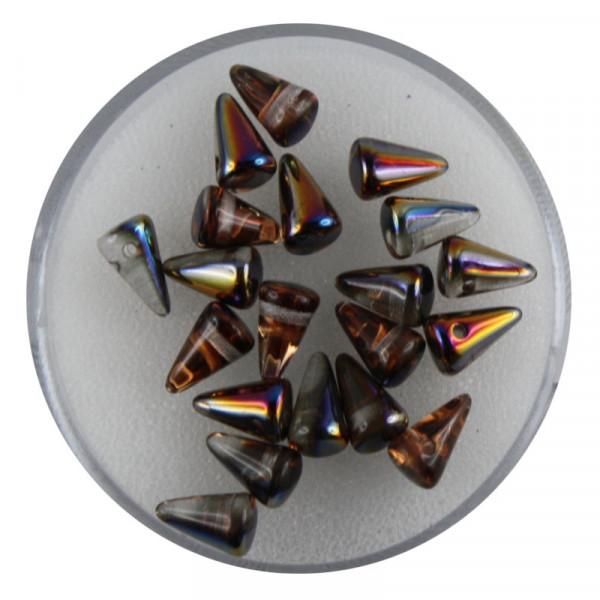 Spike Beads,5x8mm,20 Stück,kristall kupfer AB