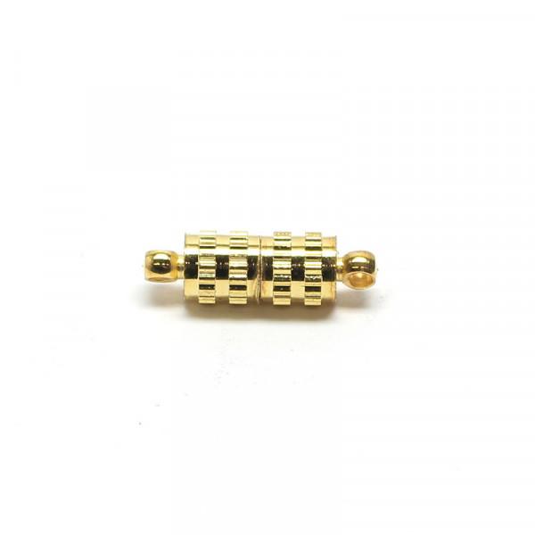 Magnetverschluss, 5x10 mm, goldfarben, gerillt