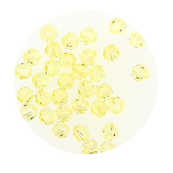 Swarovski Glasperlen, 4 mm, 5 Stück, jonquil