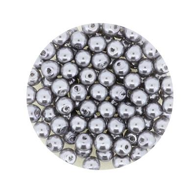 Pearl Renaissance, 4mm, 100 Stück, dunkelgrau