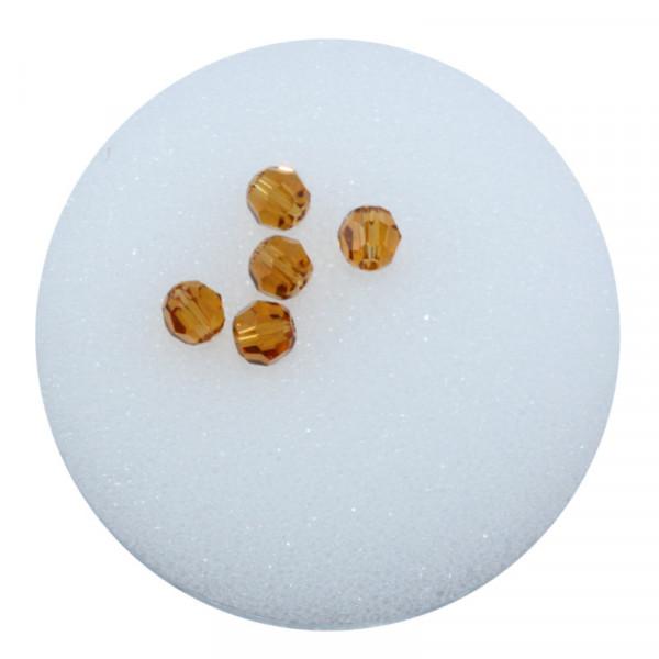 Swarovski Glasperlen, 4 mm, 5 Stück, topas