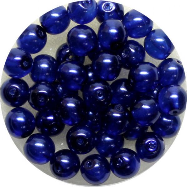 Crystal Pearl Renaissance, 6mm, 40 Stück, dunkelblau