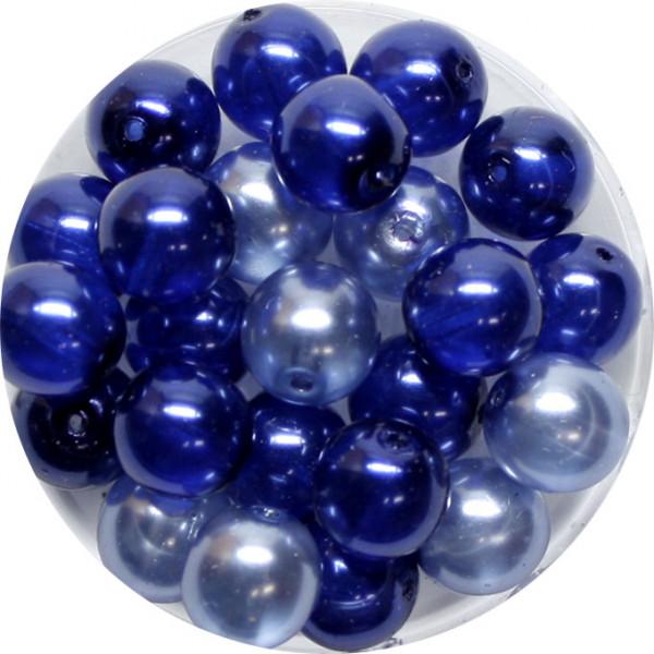 Crystal Pearl Renaissance, 8mm, 25 Stück, blau-ton