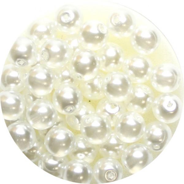 Crystal Pearl Renaissance, 6mm, 40 Stück, weiß
