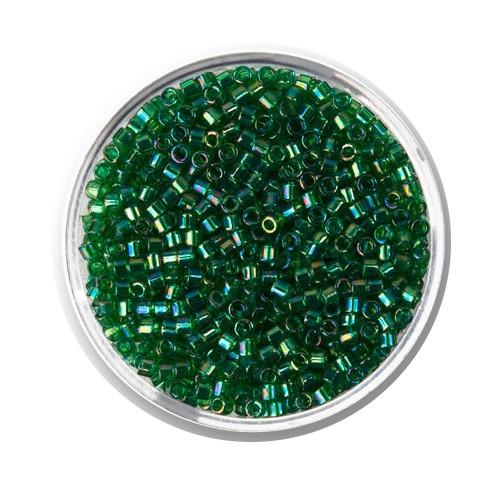 Miyuki Delicas, 10/0 (2,2mm), 9gr. Dose,green AB matt