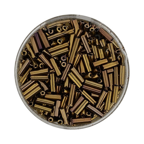 Glasstifte aus China, 17gr. Dose, 6mm,bronze