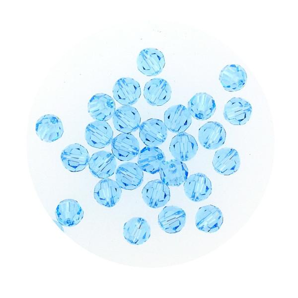 Swarovski Glasperlen, 4 mm, 5 Stück, aqua