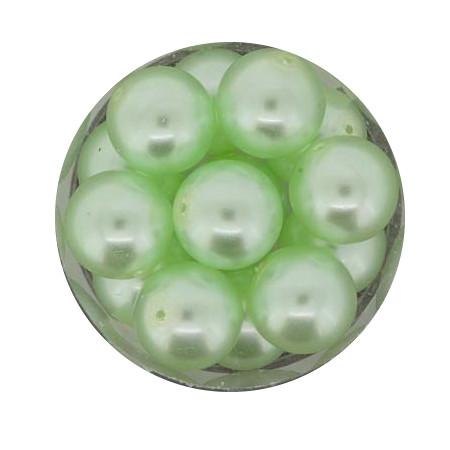 Pearl Renaissance, 12mm, 14 Stück, hellgrün