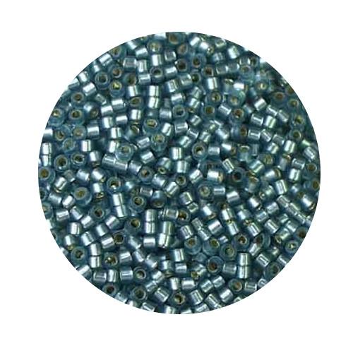Miyuki Delicas, 11/0 (2,0mm), 7gr. Dose,siverlined grey matt