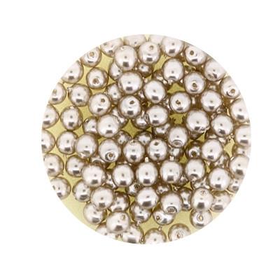 Pearl Renaissance, 4mm, 100 Stück, hellbraun