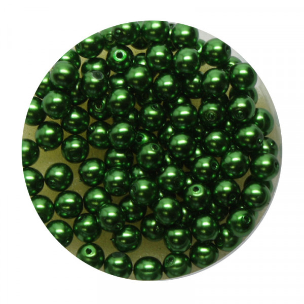 Pearl Renaissance, 4mm, 100 Stück, grün