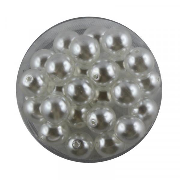 Crystal Pearl Renaissance, 8mm, 25 Stück, weiß