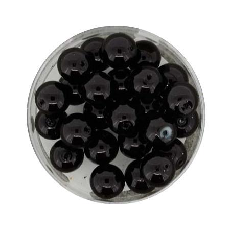 Pearl Renaissance, 8mm, 25 Stück, schwarz