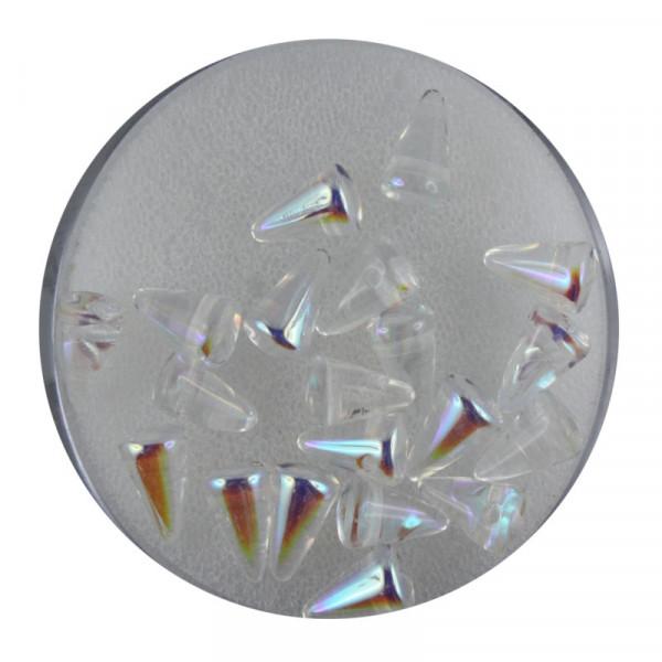 Spike Beads,5x8mm,20 Stück, kristall AB