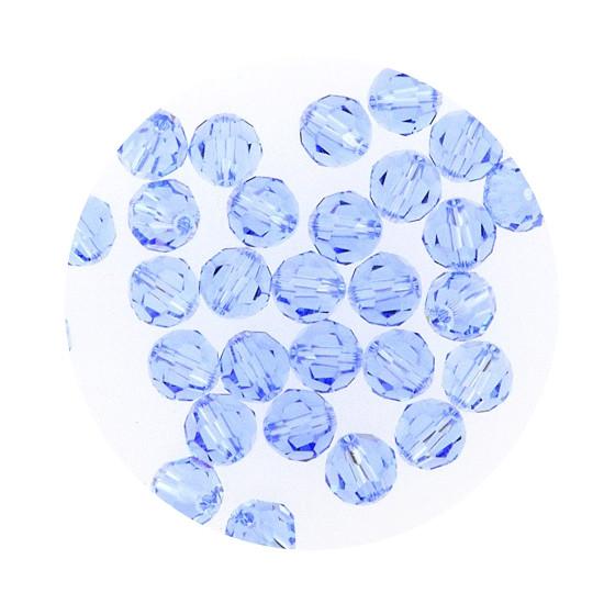 Swarovski Glasperlen, 6 mm, 5 Stück, light safir