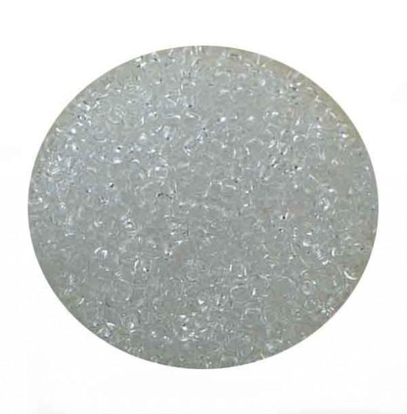 Mini-Rocailles, transparent glänzend, 1,0mm, 10gr.Dose, kristall