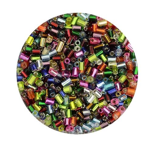 Glasstift, Silbereinzug, 2 mm, 17gr. Dose, mix