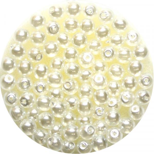 Crystal Pearl Renaissance, 4mm, 75 Stück, weiß