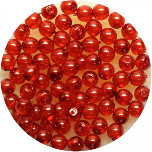 Crystal Pearl Renaissance, 4mm, 75 Stück, orange