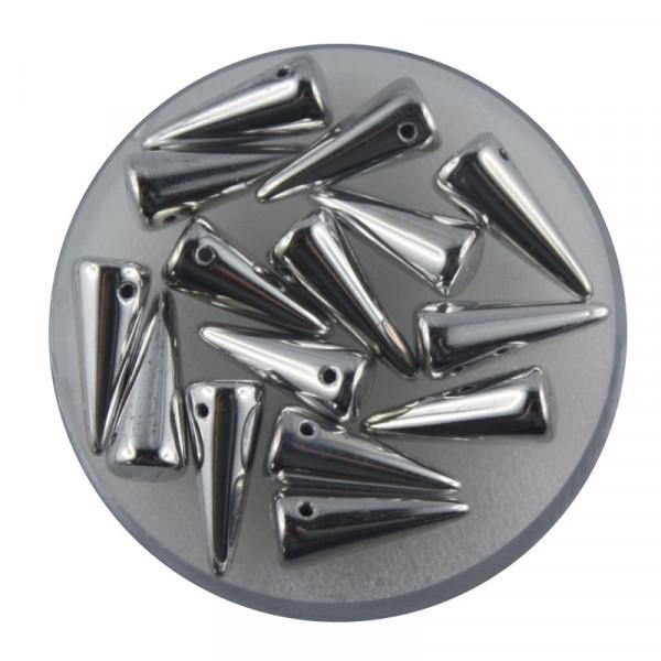 Spike Beads,5x13mm,15 Stück,silberfb.
