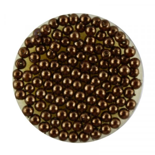 Pearl Renaissance, 3mm, 120 Stück, dunkelbraun