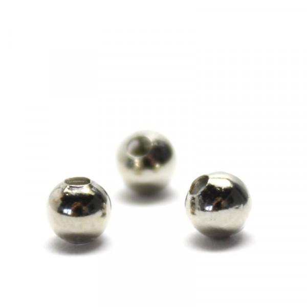 Metallperlen, Spacer, Kugel, 4 mm, silberfarben