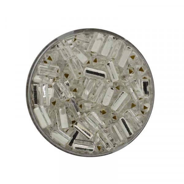 Glas-Dreieck, 7mm, 17gr.Ds., silbereinzug, kristall