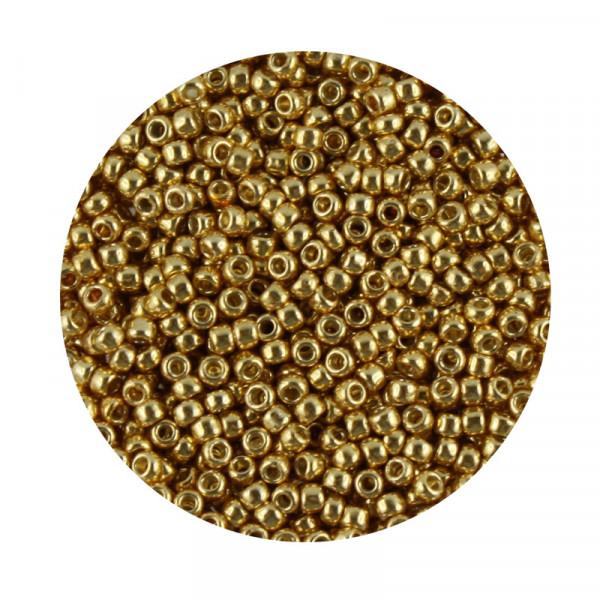 Toho-Beads, 9gr. Dose,goldfarben