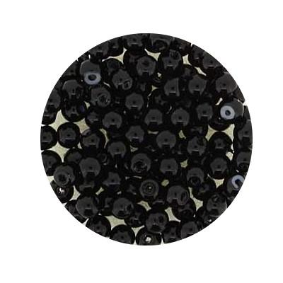 Pearl Renaissance, 4mm, 100 Stück, schwarz