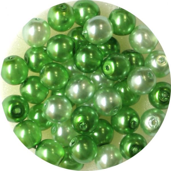 Crystal Pearl Renaissance, 6mm, 40 Stück, grün-ton