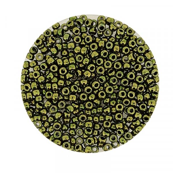 Miyuki Rocailles 2,2 mm - metallic olivine
