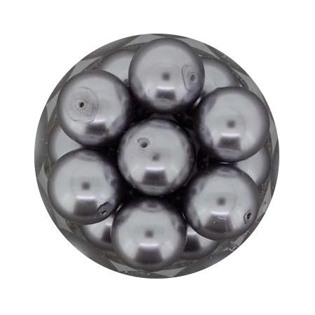 Pearl Renaissance, 12mm, 14 Stück, dunkelgrau