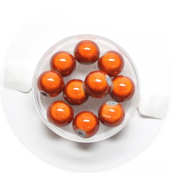 Miracle-Beads Glasperlen, 10 Stck., 10mm, orange