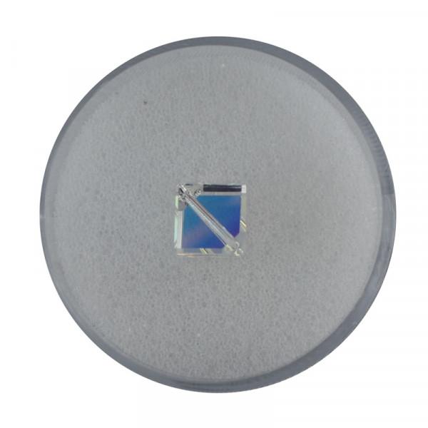 Swarovski Würfel, diagonal gestochen, 8mm, crystal AB