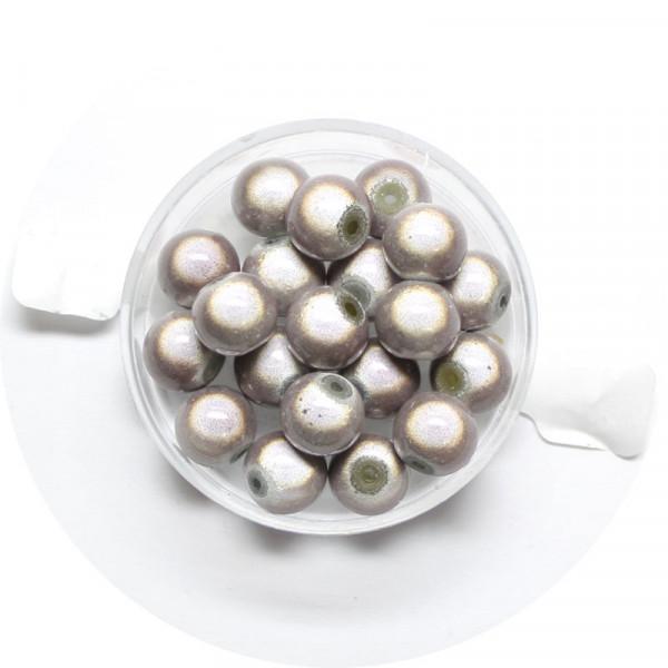 Miracle-Beads Glasperlen, 20 Stck., 8mm, hellbraun
