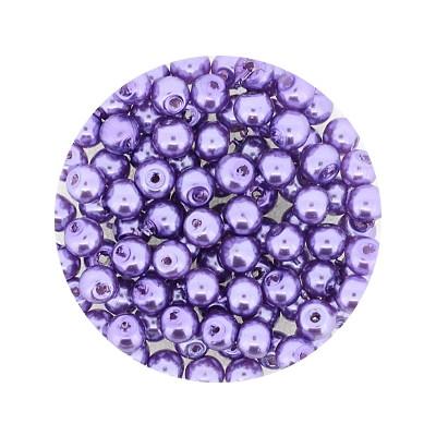 Pearl Renaissance, 4mm, 100 Stück, lila