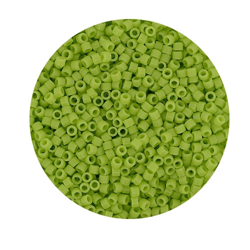Miyuki Delicas, 11/0 (2,0mm), 9gr. Dose,opal light green