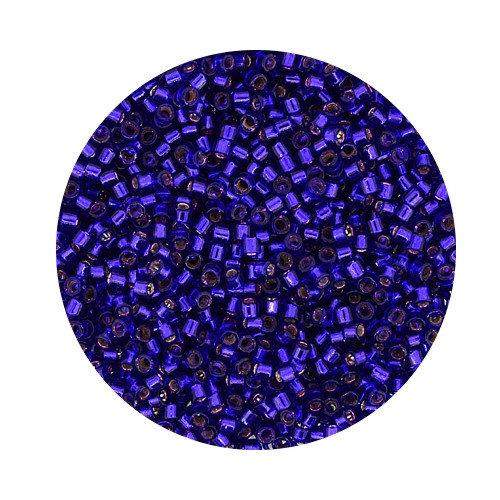 Miyuki Delicas, 11/0 (2,0mm), 9gr. Dose,silverlined violet
