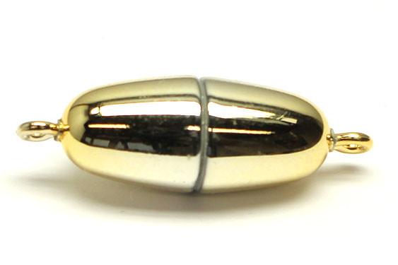 Power-Magnetverschluss, 21x9 mm, goldfb.