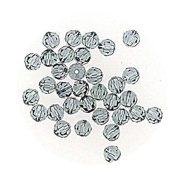 Swarovski Glasperlen, 4 mm, 5 Stück, indian safir