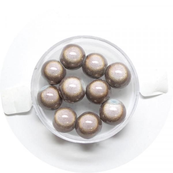 Miracle-Beads Glasperlen, 10 Stck., 10mm, hellbraun