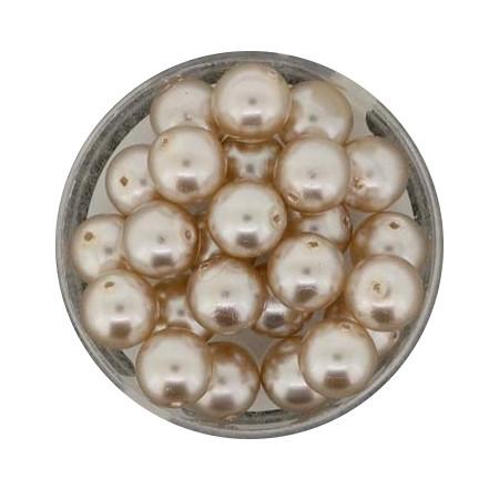 Pearl Renaissance, 8mm, 25 Stück, hellbraun
