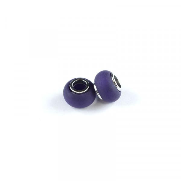 Polaris Großlochperlen matt, 8x12mm, aubergine